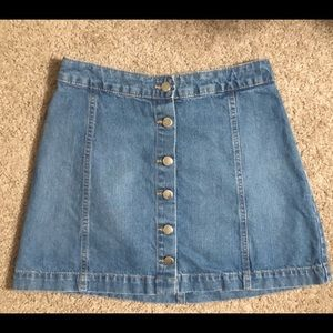 H&M button up jean skirt size 8